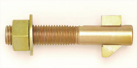 Flip Bolt Zinc Yellow Blind Anchor For Steel Structures